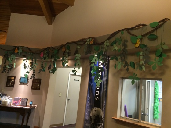 More vines in the lobby.