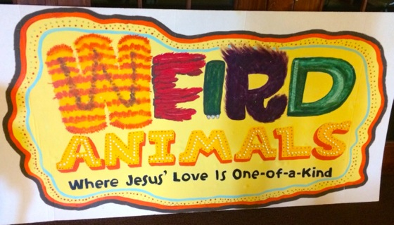 A lady at our church hand-painted this sign, which we mounted above the front of the church entrance.