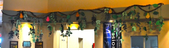 Another look at the vines hanging around our lobby.