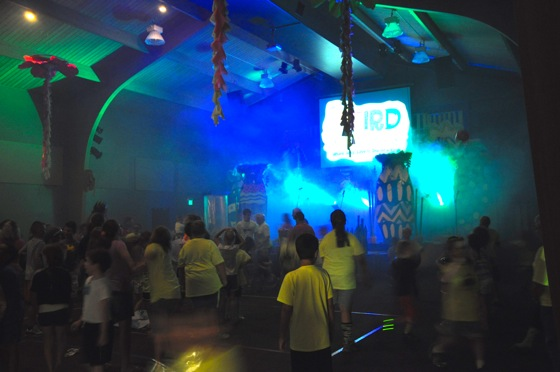 The Worship Center in action during VBS worship.
