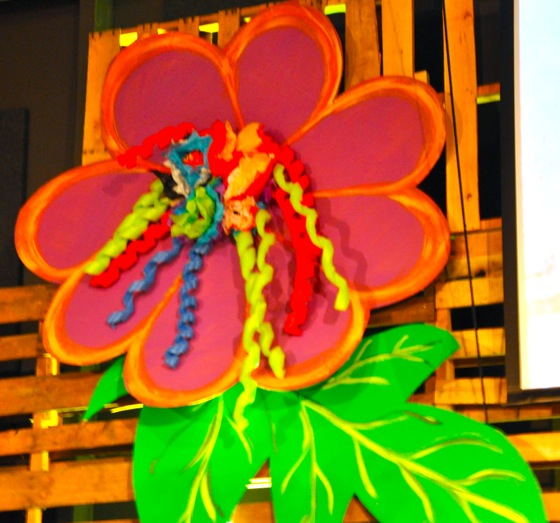 Another flower mounted on the main stage.