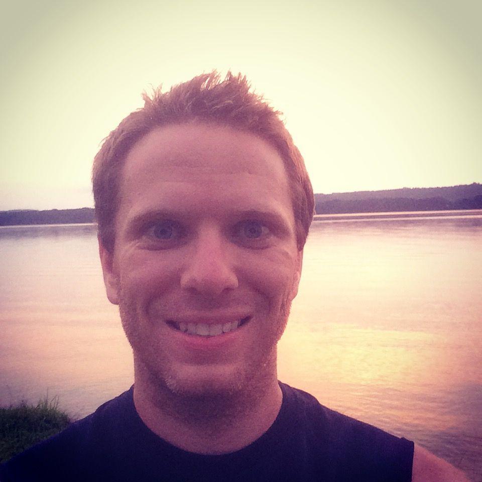 Sunset running selfie