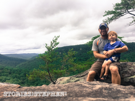 Me & Sam sitting near the edge of Buzzard's Roost.