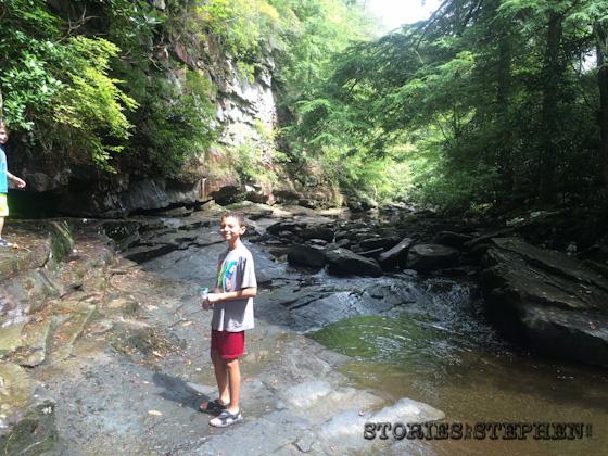 Kalon led the way on the journey through Piney Creek.