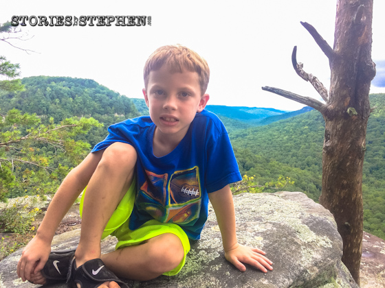Will sitting near the edge of Buzzard's Roost.