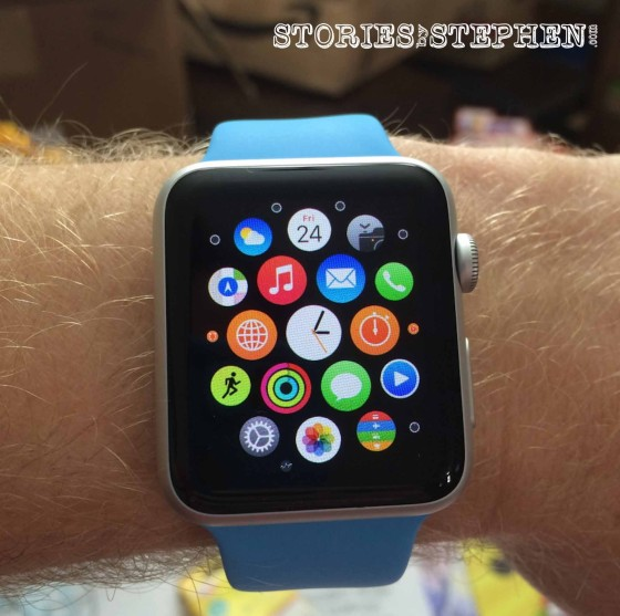 The 1st time I put the Apple Watch on my wrist!