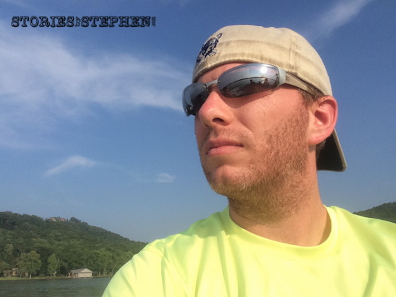Here I am enjoying the nice breeze on the ski boat.