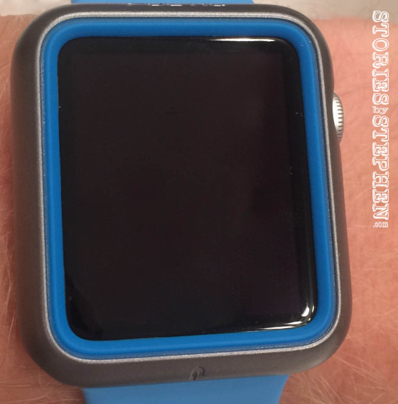 After installing the ArmorSuit MilitaryShield Screen Protector on my Apple Watch Sport, the scratches all over the glass face were no longer visible! Hopefully this screen protector will prevent further scratches in the future, but the fact that a $7 piece of clear plastic made all those scratches disappear, at least from visibility, is quite impressive.