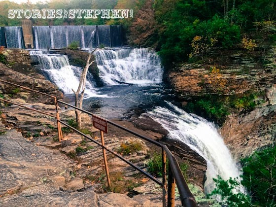 The dam leads into these cascades, which then drop down to the bigger waterfall, Desoto Falls.