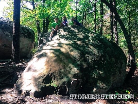 More boulders to climb by Mushroom Rock!