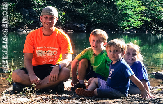 Me and the kids by Little River.