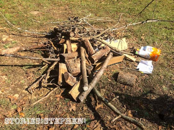 We collected enough firewood so we didn't have to buy any from the camp store.
