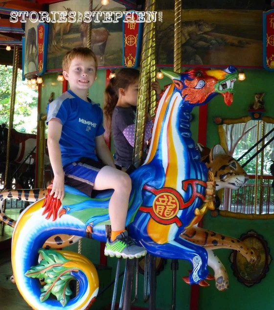 Will on the carousel.