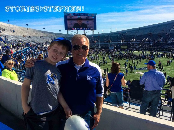 Will and his Poppa after the Memphis vs Ole Miss football game.