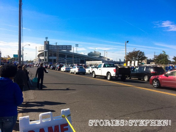 Parking and walking to Liberty Bowl Memorial Stadium was hectic thanks to the sold-out crowd.
