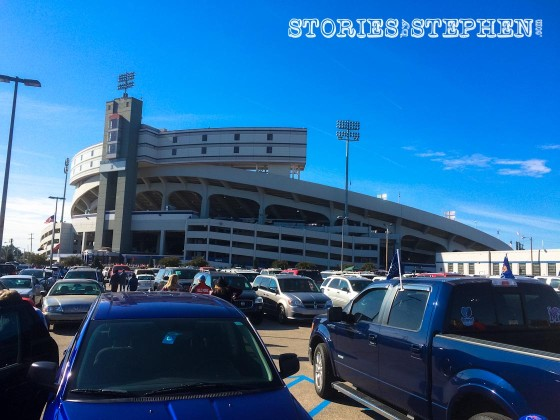 Another shot of Liberty Bowl Stadium.