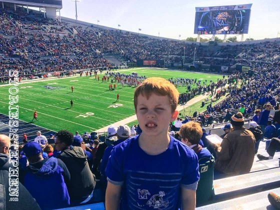 Will inside the Liberty Bowl Stadium ready to watch the Memphis Tigers!
