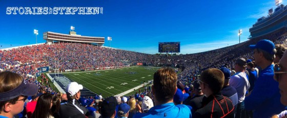 Sold-out stadium at the Memphis vs Ole Miss football game!