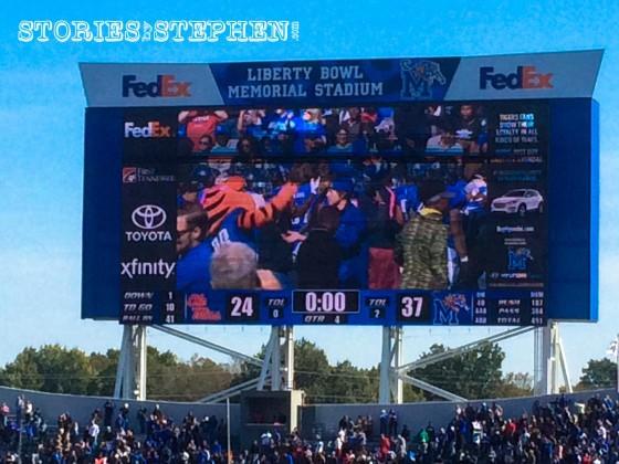 Final Score: Memphis 37 Ole Miss 24