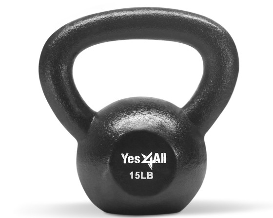 Make sure to get solid cast-iron kettle bells that will last forever!