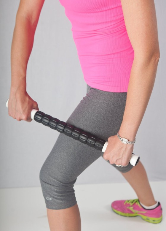 A muscle rolling stick has many of the same uses and effects as a foam roller, but it can target certain muscles that are hard to foam roll.