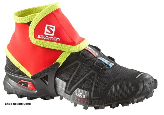 Salomon Low Trail Gaiters will help winter runners keep snow and slush out of their shoes.