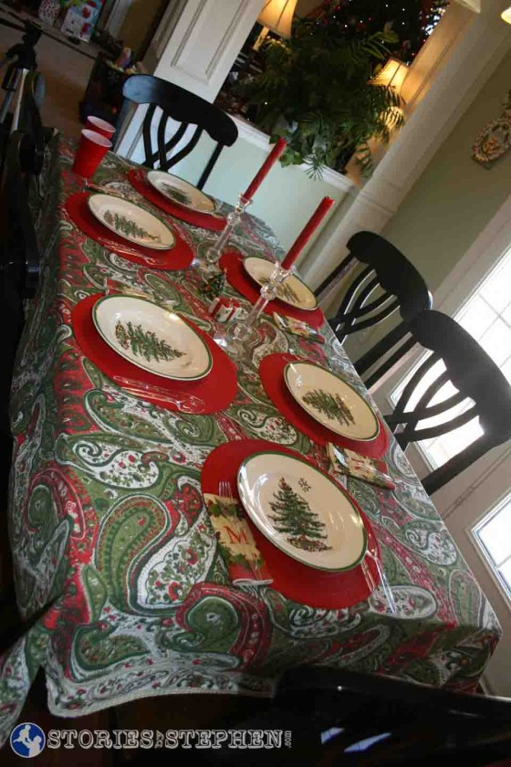 The kids' table for Christmas lunch.