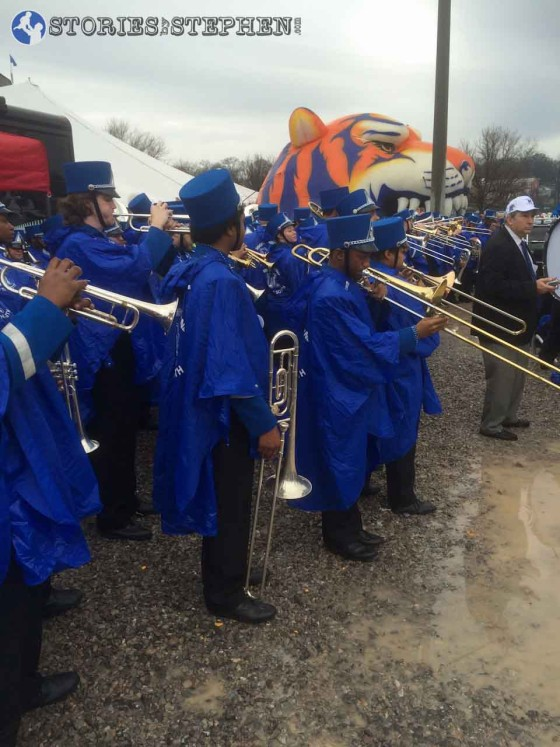 The Mighty Sound of the South... the Memphis Tigers band.