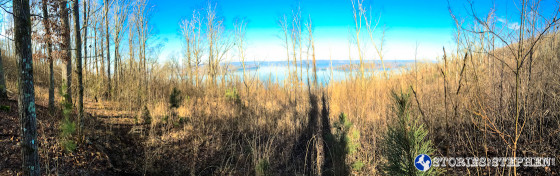 I would occasionally find a beautiful view of Lake Guntersville from the trail.