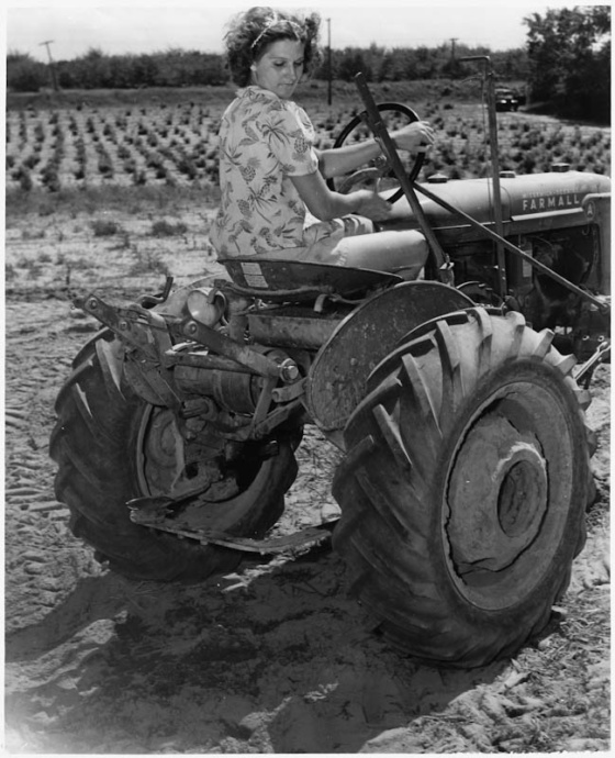 ww2 tractor girl