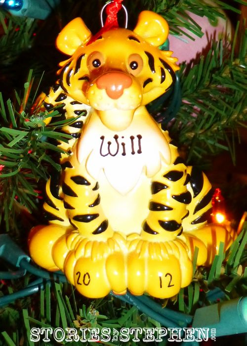 Will turned 4 in 2012, and his ornament shows his growing love for Memphis Tigers basketball.