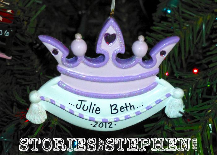 Julie Beth turned 2 in 2012, and she started to love princesses.