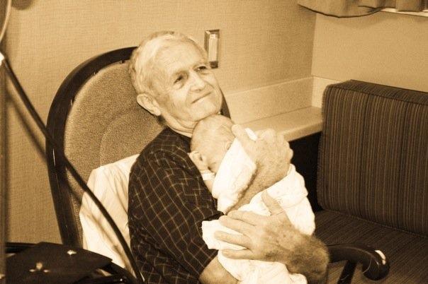 Granddaddy loved his great-grandkids!