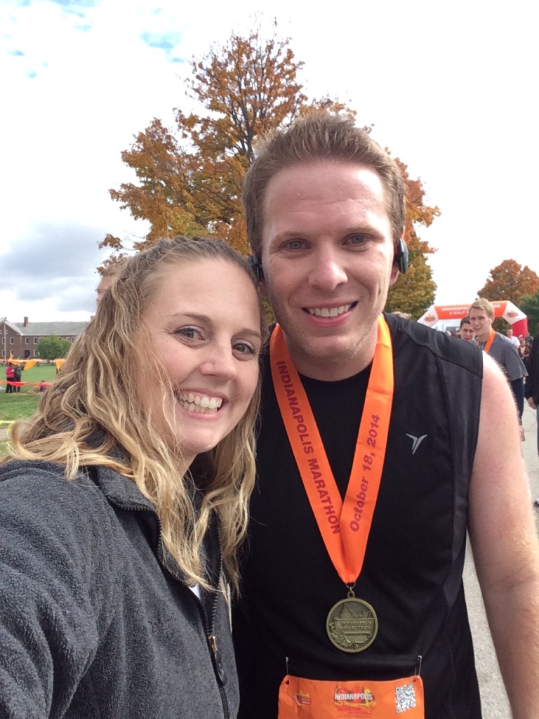 With my beautiful wife Jennifer just after I finished my 1st marathon! She has been very supportive and encouraging through all the training.