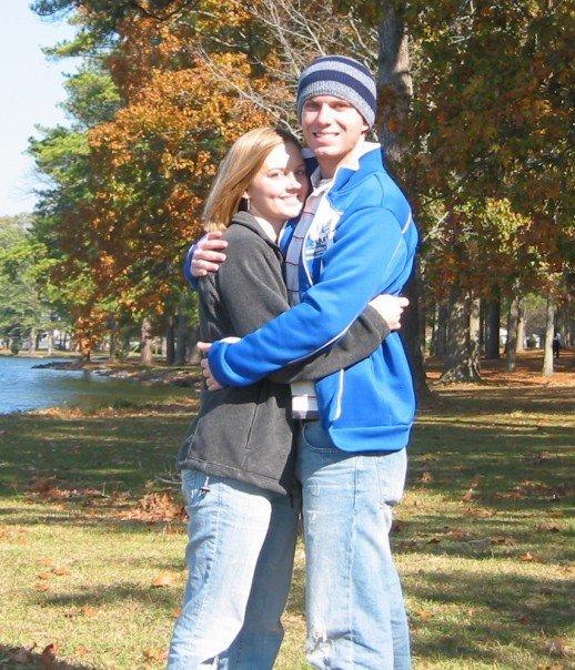 Jennifer and me by Lake Guntersville in November 2006, just 2 months after we met.