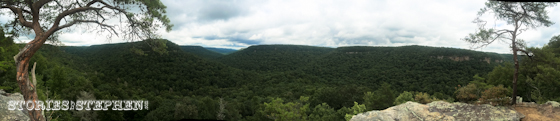 Panoramic shot from Buzzard's Roost.