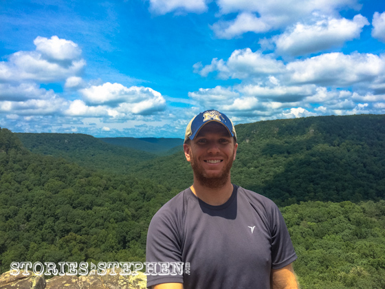 Another Buzzard's Roost selfie using my new selfie stick. It was dark and cloudy the 1st time we visited this spot, but check out how awesome the sky looked on day 3 of the camping trip!