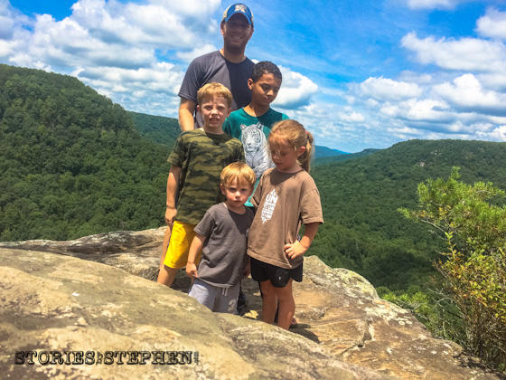Me & the kids atop Buzzard's Roost.
