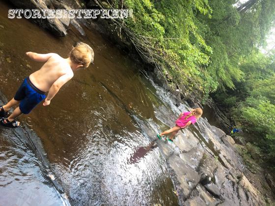 We all had fun hiking through the water of Piney Creek.
