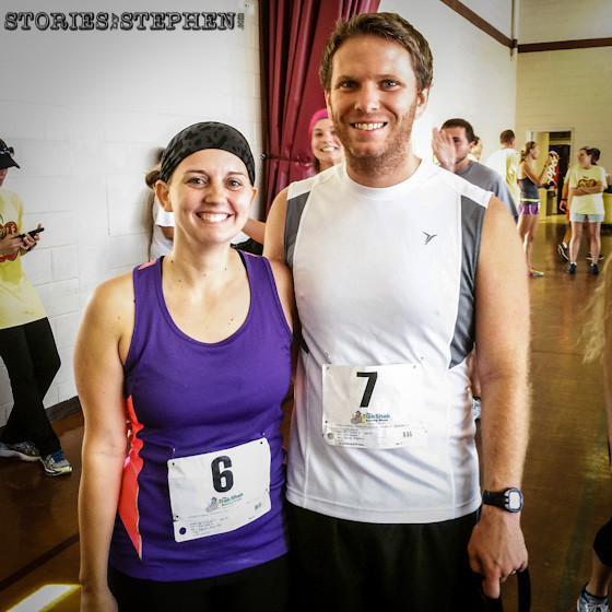 This was the 1st time Jennifer and I have ever run a 5K race together!