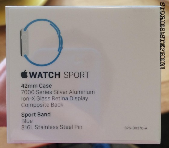 My Apple Watch Sport arrived April 24, 2015, the 1st day it was available to the public.