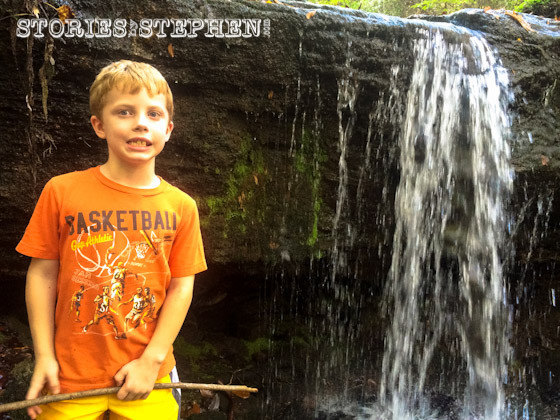 Will at a waterfall.