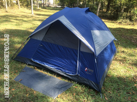 This tent goes up no problem.