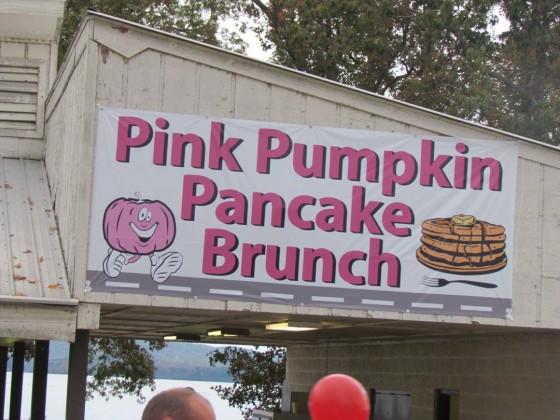 Free Pancakes at the 2015 Pink Pumpkin Run. Photo Credit: