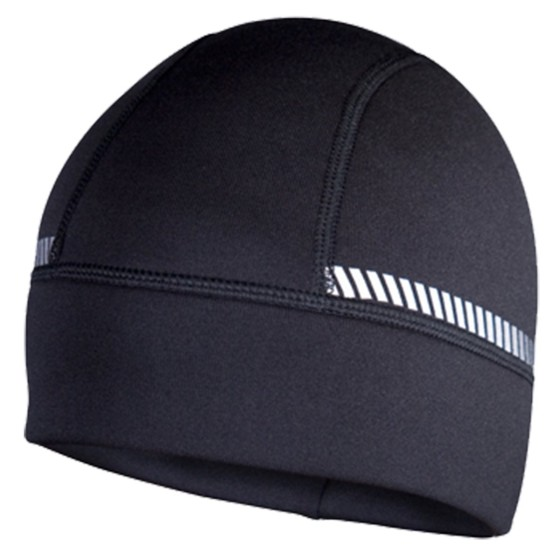 The TrailHeads Power Cap is a great beanie for running, and is has reflective elements.
