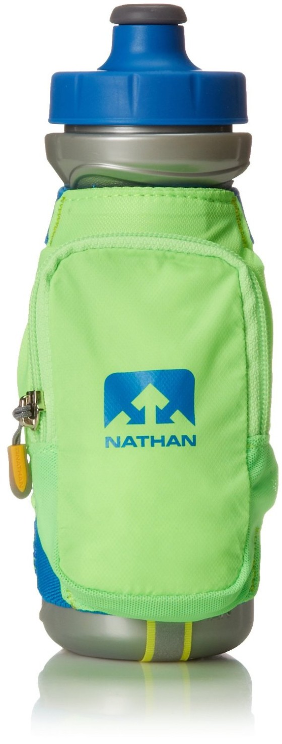 Another option for carrying water is the Nathan Quickdraw Plus Handheld Bottle Carrier. I own this and the Camelback handheld, and I actually use the handstraps from the Nathan on the insulated bottle from the Camelback to make the perfect combo.