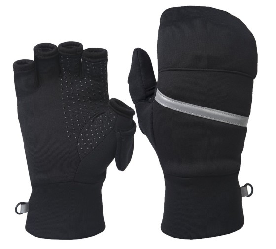 These convertible mittens for women allow full use of all fingers by flipping back the mitten-top. This is useful when you need to use a touch screen, but it is also nice to flip the top back when your hands get too warm.