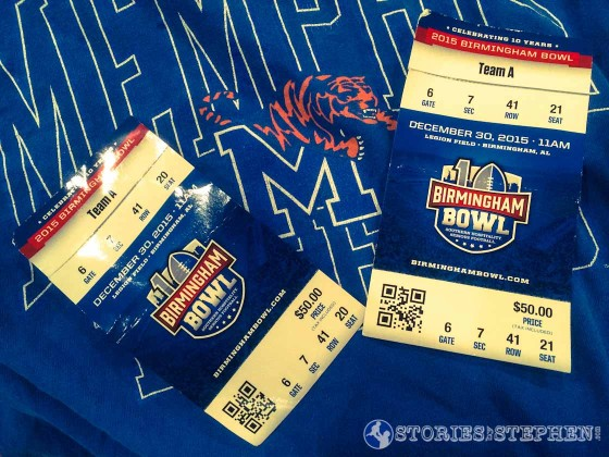 Ready for the 2015 Birmingham Bowl.