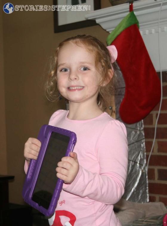 Santa found a purple case for Julie Beth's iPad Mini.