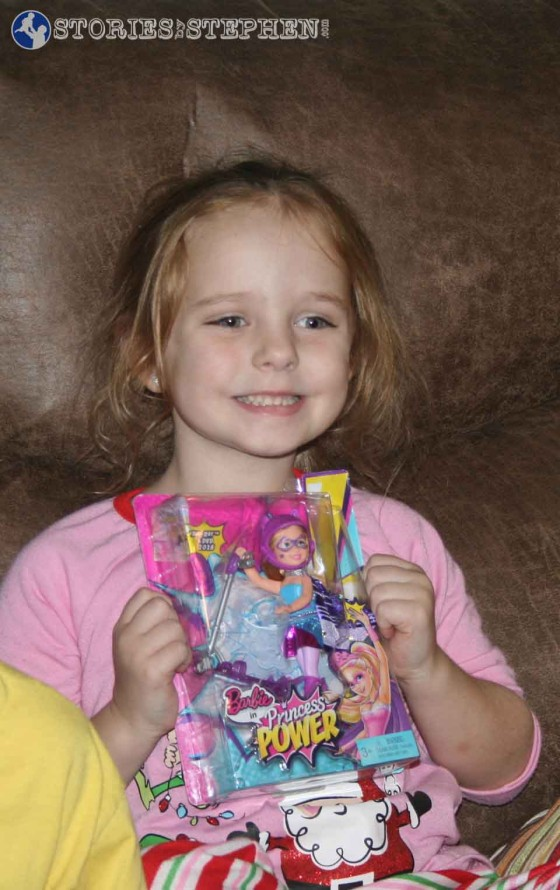Julie Beth got excited every single time she opened a new Barbie.